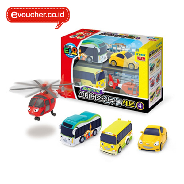 TAYO THE LITTLE BUS - 4STYLE MINI CAR SET 4 (4PCS) - ORIGINAL