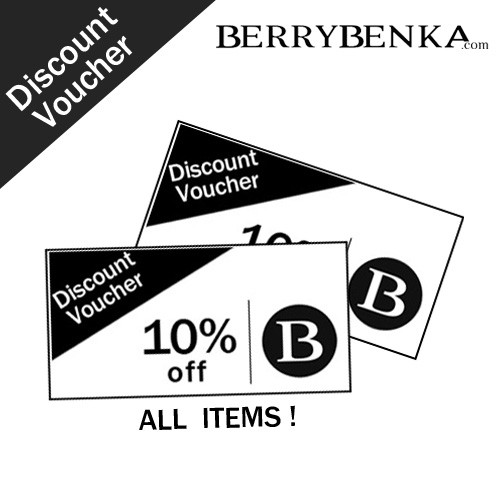 Voucher Discount 10% at BERRYBENKA.Com for ALL ITEMS !
