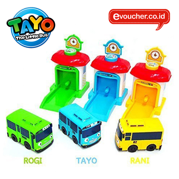 TAYO THE LITTLE BUS SHOOTING CAR (3PCS) - ORIGINAL