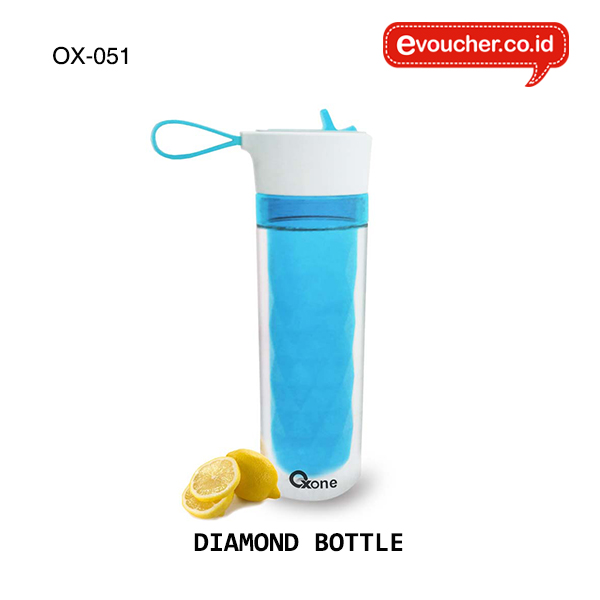 OX-051,  DIAMOND BOTTLE  350ml dengan 2 lapisan berbahan lid silicon