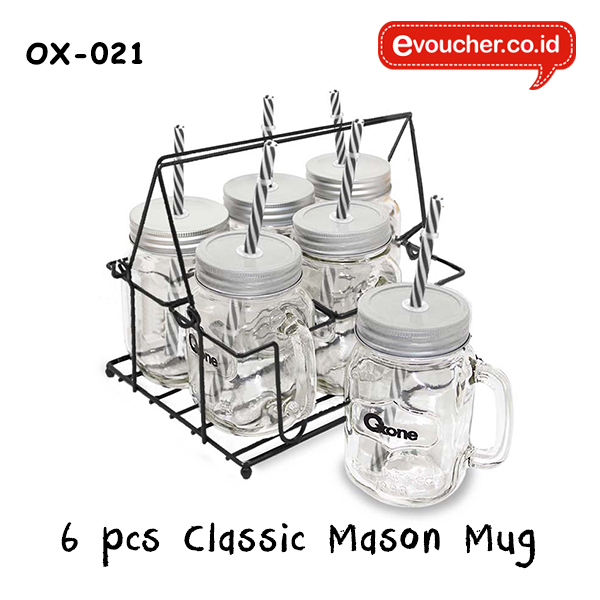 OX-021 6 Classic Mason Mug with Rack Oxone